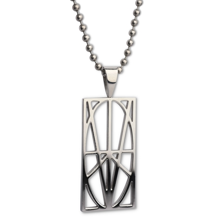 Picture of Men's Large Stainless Steel Pendant