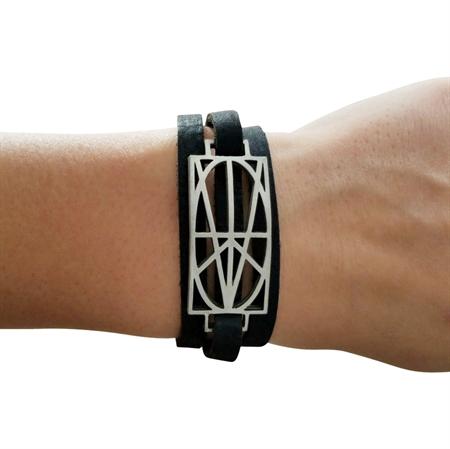 Picture of Women's Black Leather Wrap Bracelet
