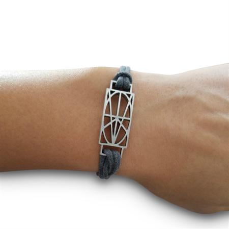 Picture of Women's Gray Wrap & Tuck Bracelet - Small Zymbol